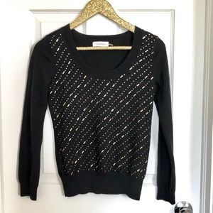 Calvin Klein Black Sweater With Gold Beading